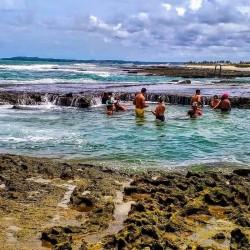 Piscinas naturais perto da barra do Cunhau