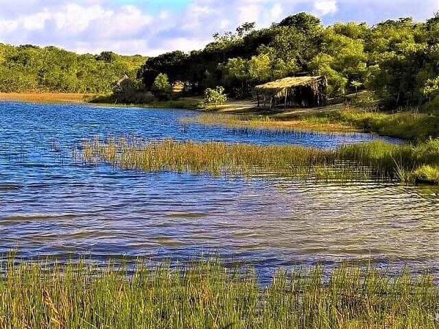 A lagoa encantada