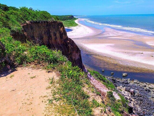 Mirante acima da Barra do Miriri (praias de Lucena)