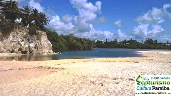 A lagoa da praia de Tabatinga