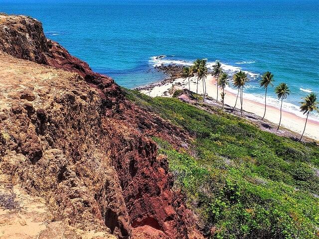 Divisa entre as praias de Tabatinga e Coqueirinho