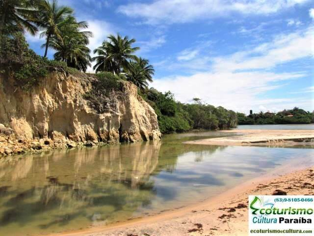 Falésias de argilo da praia de Tabatinga