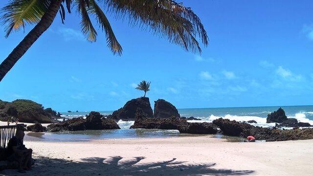 O cartão postal da praia de Tambaba