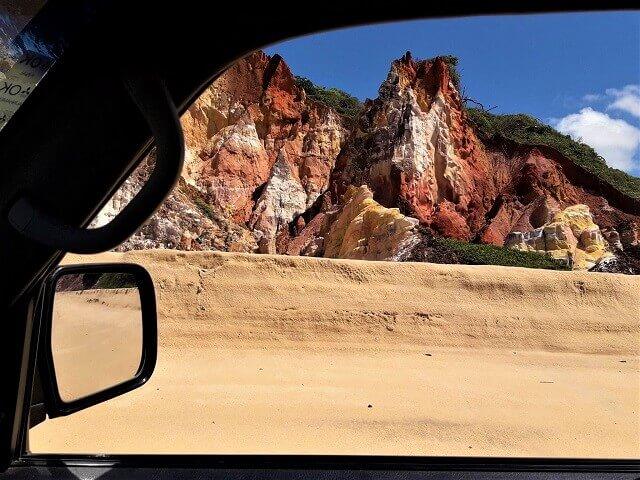 Rodando na praia de Coqueirinho