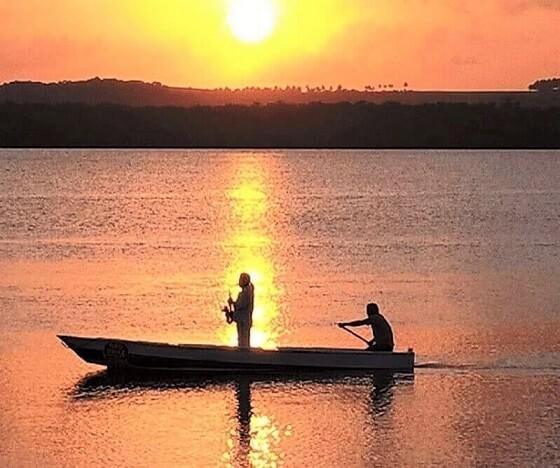 Sunset on the Jacaré beach